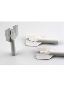 Bördelnahtdüse neutral, graue Flügeldüse für Aluminium-kartuschen